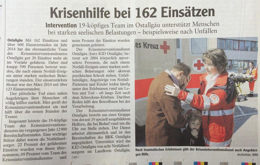 Krisenhilfe bei 162 Einsätzen